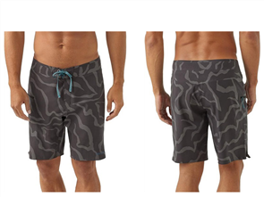 Patagonia Stretch Planing Boardshorts - 19 in., Tiger Tracks Camo: Ink Black