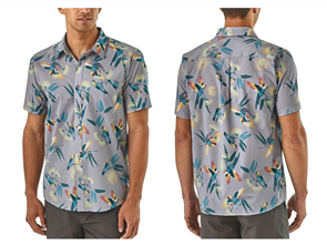Patagonia Go To Shirt, Parrots: Ghost Purple