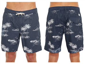 Oneill UNCHARTED SLACKER ELASTIC WAIST BOARDSHORT, LNV LIGHT NAVY
