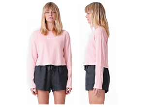 RPM Lily Long Sleeve Tee, Pink