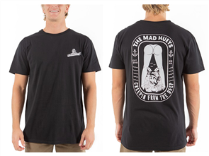 The Mad Hueys CREEPIN SHORT SLEEVE TEE, BLACK