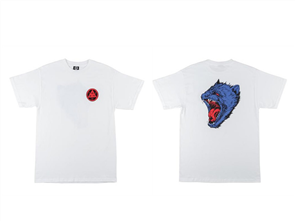 Welcome Tasmanian Short Sleeve Tee, White/ Blue/ Red