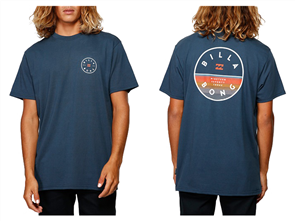 Billabong ROTOR SHORT SLEEVE T-SHIRTS, NAVY