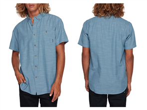 Billabong ALL DAY SS SHORT SLEEVE WOVEN SHIRT, POWDER BLUE