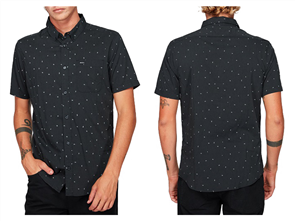 RVCA VA LITTLE BUDS SHORT SLEEVE SHIRT, BLACK