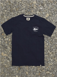 Just Another Fisherman SNAPPER LOGO SHORT SLEEVE TEE, NAVY