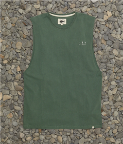 Just Another Fisherman FISHERMAN SINGLET, WASHED GREEN