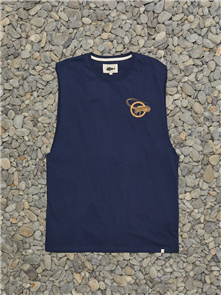 Just Another Fisherman MILFORD SOUND SINGLET, NAVY