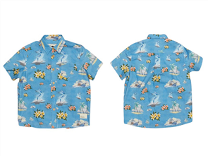 Just Another Fisherman YOUTH MARLIN SHORT SLEEVE SHIRT, BLUE