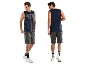 iLabb DIMENSION MENS SLEEVELESS TANK, NAVY