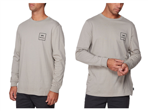 RVCA VA ALL THE WAYS LONGSLEEVE TEE, OVERCAST
