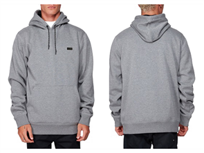 Billabong SHORELINE PULLOVER HOODED FLEECE, GREY HEATHER