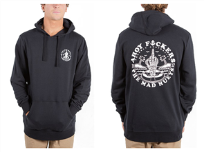 The Mad Hueys FLOATING FKR PULLOVER HOODY, BLACK