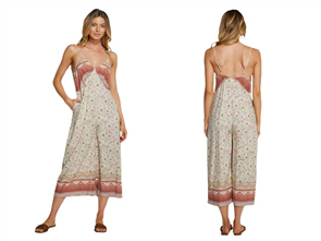 Oneill FREEPORT JUMPSUIT, PEACH FLORAL