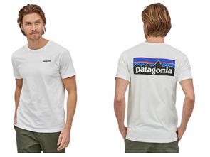 Patagonia M's P-6 Logo Organic Tee, White