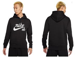 Nike SB CRAFT HOODIE, Black/ White