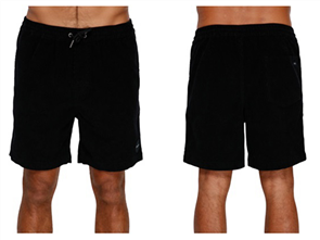 RVCA LORD OF CORD ELASTIC WALKSHORT, BLACK