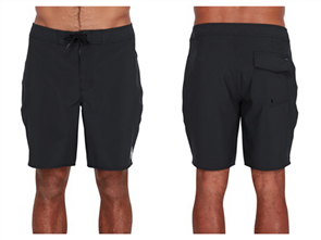 RVCA VA TRUNK SOLID BOARDSHORTS, BLACK