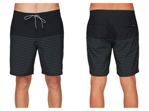RVCA CURREN TRUNK BOARDSHORT, BLACK