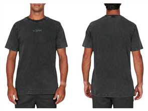 RVCA RVCA MINI FLIPPED SS TEE, BLACK ACID