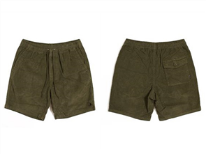 "T&C WHALER 18"" ELASTIC WALKSHORT, MILITARY"