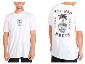 The Mad Hueys PALM FKR TEE, WHITE