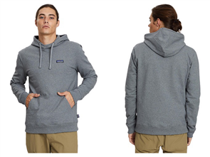 Patagonia M's P-6 Label Uprisal Hoody Sweatshirt, Gravel Heather