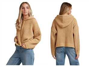 Billabong NELLY HOODED SWEATER, CURRY