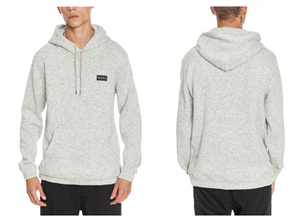 Quiksilver KELLER HOOD, LIGHT GREY HEATHER
