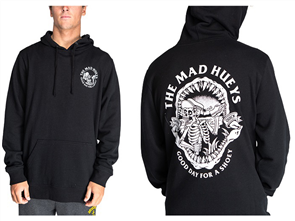 The Mad Hueys DRINK QUICK PULLOVER, BLACK
