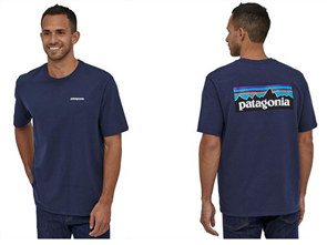 Patagonia P-6 Logo Responsibili-Tee, Blue