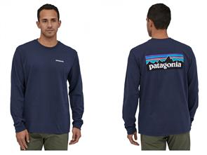 Patagonia L/S P-6 Logo Responsibili-Tee, Blue