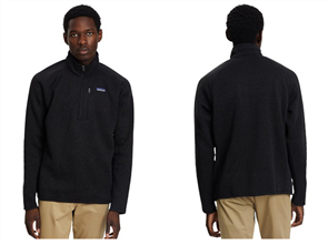 Patagonia Better 1/4 Zip Sweater, Black