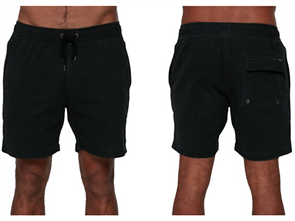 RVCA ESCAPE ELASTIC WALKSHORT, BLACK