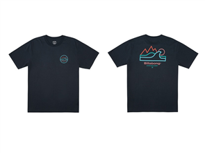 Billabong PEAK WAVE SS SHORT SLEEVE T-SHIRTS, INDIGO