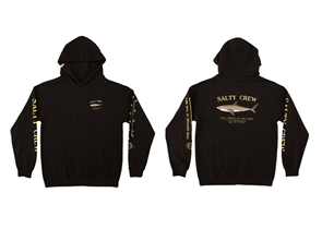 Salty Crew BRUCE BOYS HOOD FLEECE, BLACK