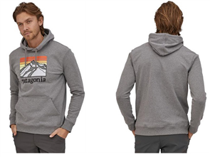 Patagonia Line Logo Ridge Uprisal Hoody, Gravel Heather