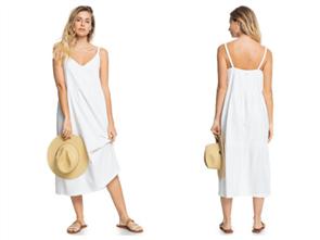 Roxy WAITING LINE DRESS, SNOW WHITE