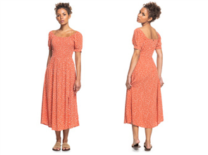 Roxy DECADE OF DREAMS DOTS DRESS, GINGER SPICE NEW DOTS