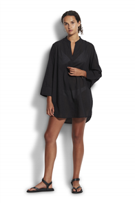 Seafolly Newport Cover Up Overswim, Black