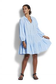 Seafolly Boheme Spot Tiered  Dress, Blue Belle