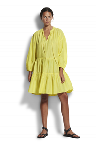 Seafolly Boheme Spot Tiered  Dress, Lime Light