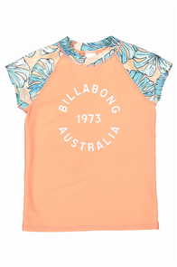 Billabong Le Palma Youth Rashguard, Aqua Splash