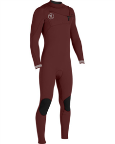 Vissla Seven Seas 3-2 Full Chest Zip, Wine