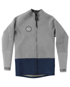 Vissla 2Mm Front Zip Jacket, Naval