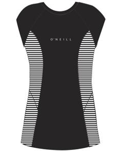 Oneill CAP SLEEVE RASH TEE, Black Stripe