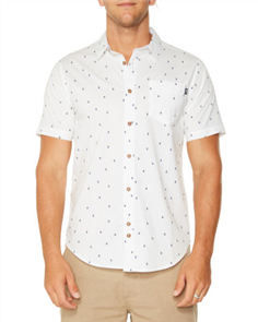 Oneill Craney Short Sleeve Shirt, Bone White