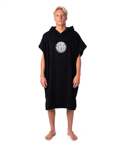 """Rip Curl 100% COTTON """"WET AS"""" HOODED TOWEL, BLACK"""