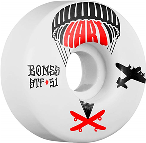 Bones STF Hart Drop Boards Shape V1 Wheels, Size 51mm