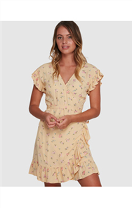 Billabong PRETTY MOON WRAP DRESS, MELLOW YELLOW